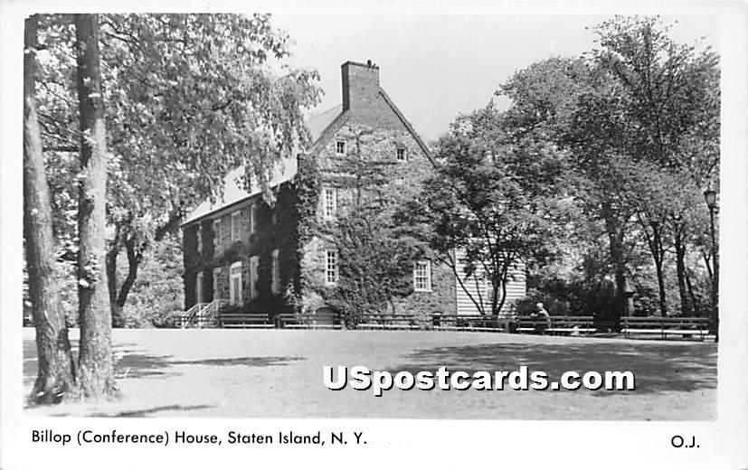 Billop Conference House - Staten Island, New York NY Postcard