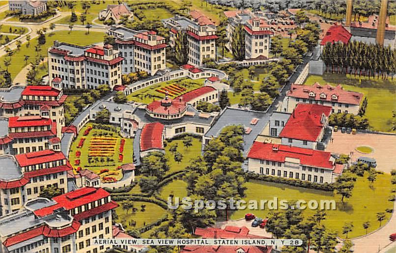Sea View Hostpital - Staten Island, New York NY Postcard