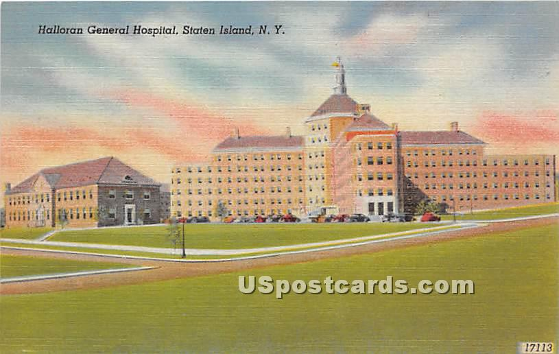 Halloran General Hosptial - Staten Island, New York NY Postcard