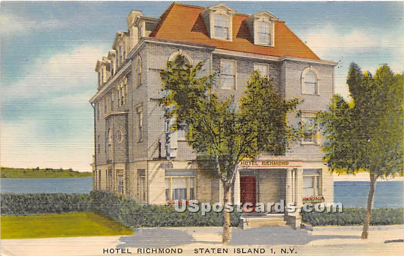 Hotel Richmond - Staten Island, New York NY Postcard