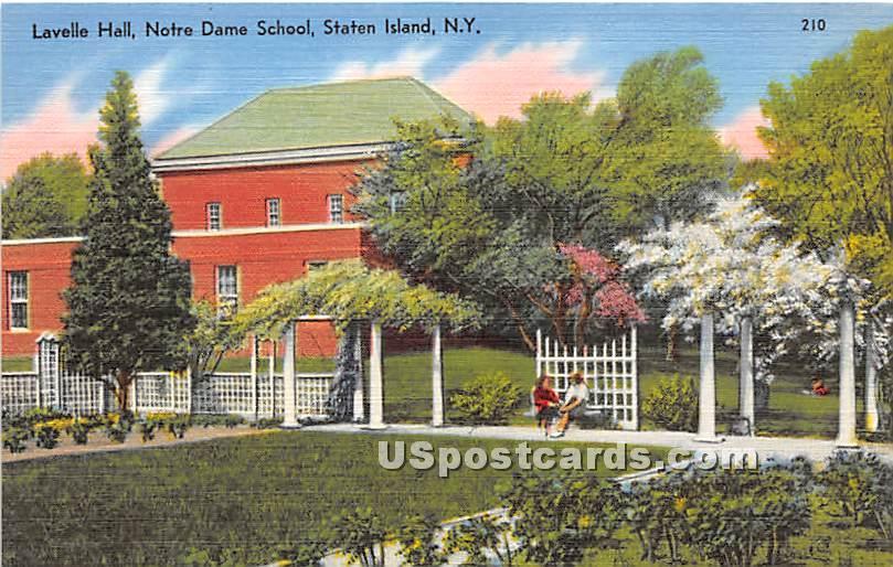 Lavelle Hall, Notre Dame School - Staten Island, New York NY Postcard
