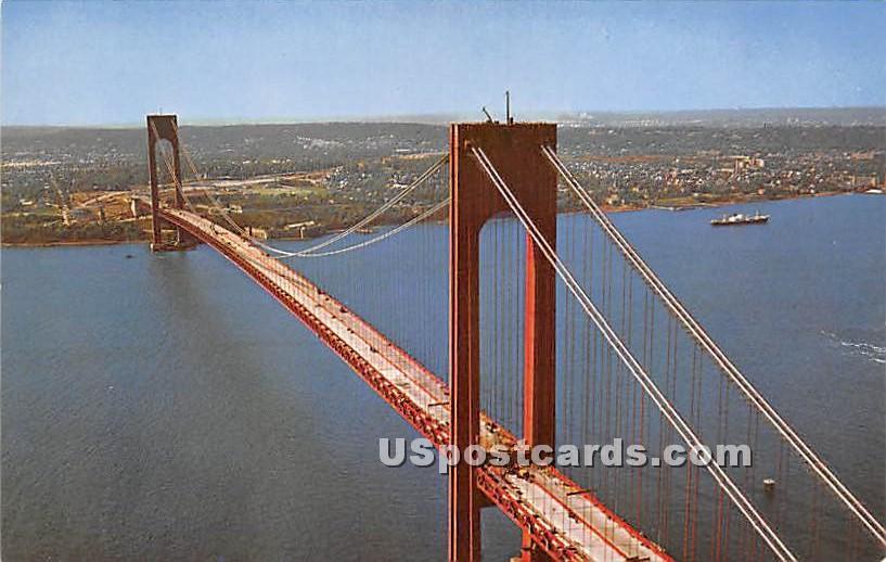 Verrazano Narrows Bridge - Staten Island, New York NY Postcard