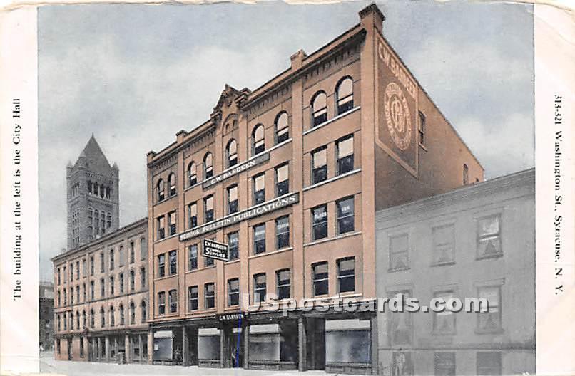 Washington Street, City Hall - Syracuse, New York NY Postcard