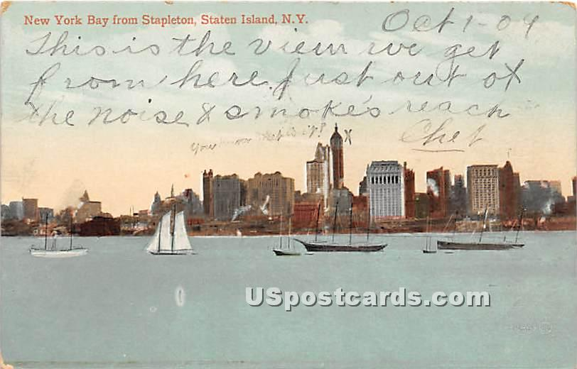 Bay, Stapleton - Staten Island, New York NY Postcard