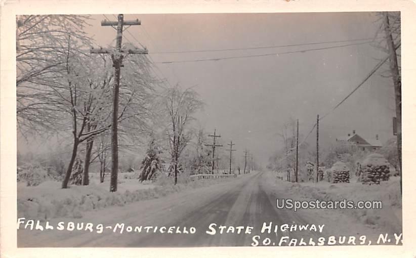 Fallsburg Monticello State Highway - South Fallsburg, New York NY Postcard