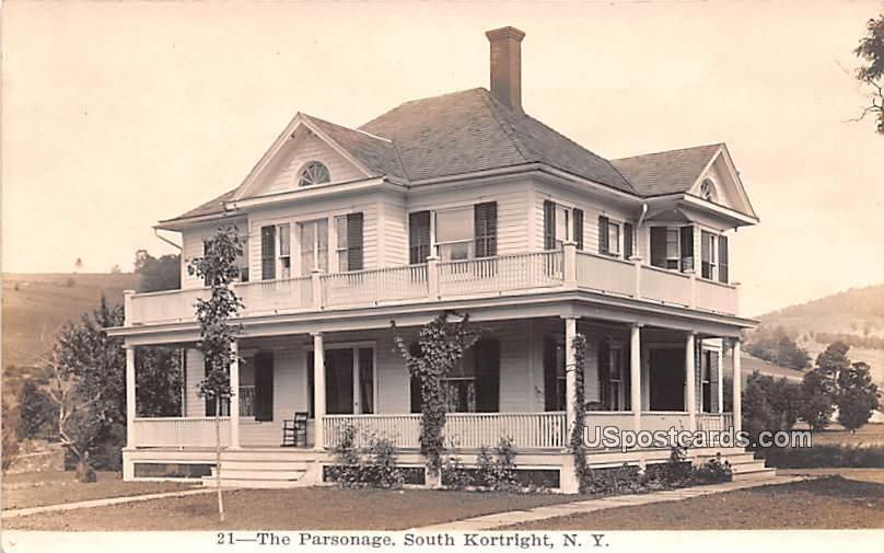 The Parsonage - South Kortright, New York NY Postcard