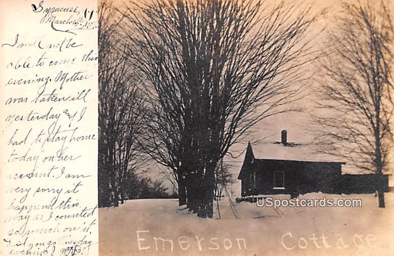Emerson Cottage - Syracuse, New York NY Postcard