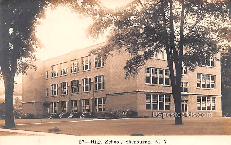 High School - Sherburne, New York NY Postcard