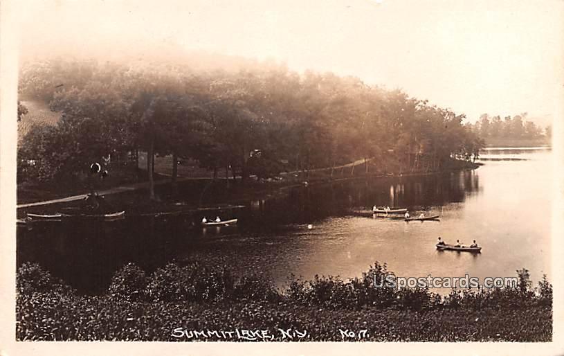 Lake View - Summit Lake, New York NY Postcard