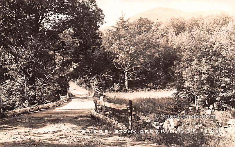 Mill Bridge - Stony Creek, New York NY Postcard