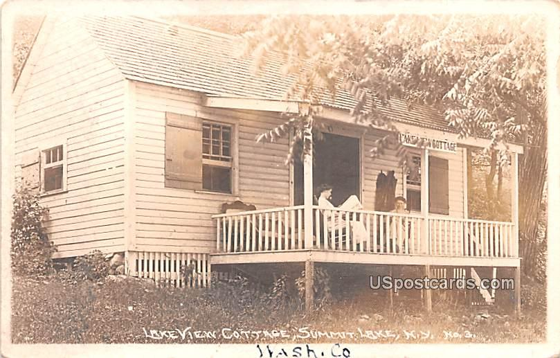 Lake View Cottage - Summit Lake, New York NY Postcard