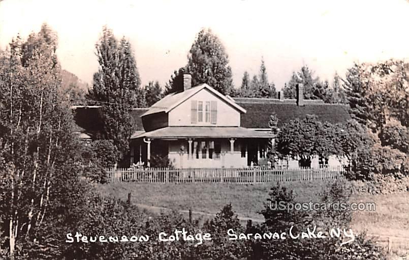 Stevenson Cottage - Saranac Lake, New York NY Postcard