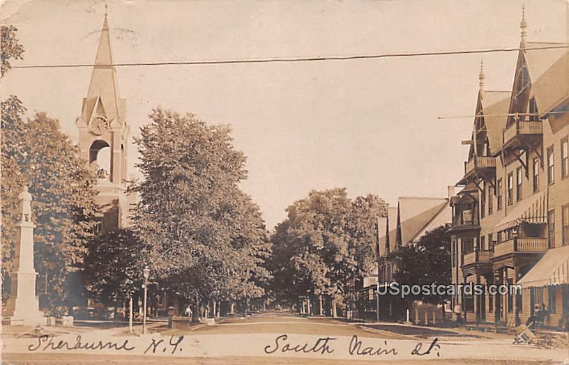 South Main Street - Sherburne, New York NY Postcard