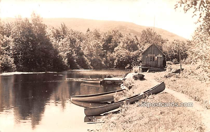 Boat Scene - Sherburne, New York NY Postcard