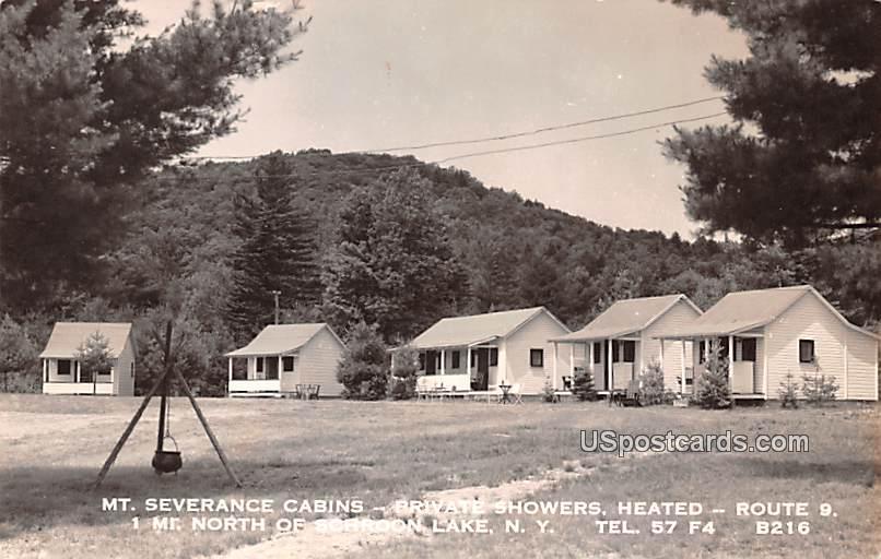 Mt Severance Cabins - Schroon Lake, New York NY Postcard