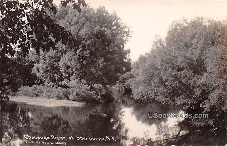 Chenango River - Sherburne, New York NY Postcard