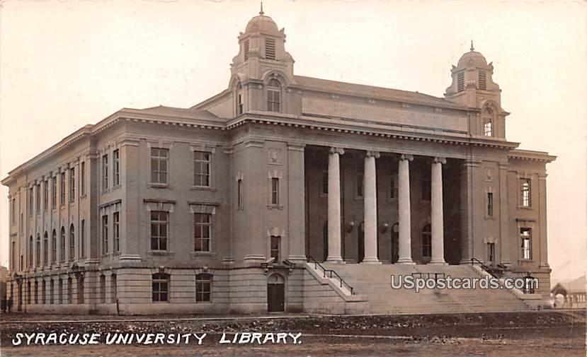Syracuse University Library - New York NY Postcard