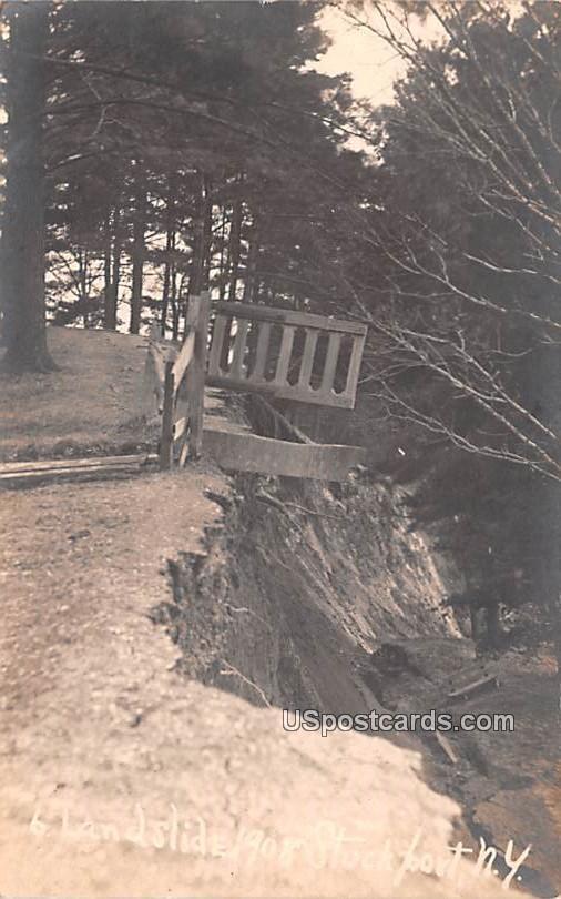 Landslide 1908 - Stockport, New York NY Postcard
