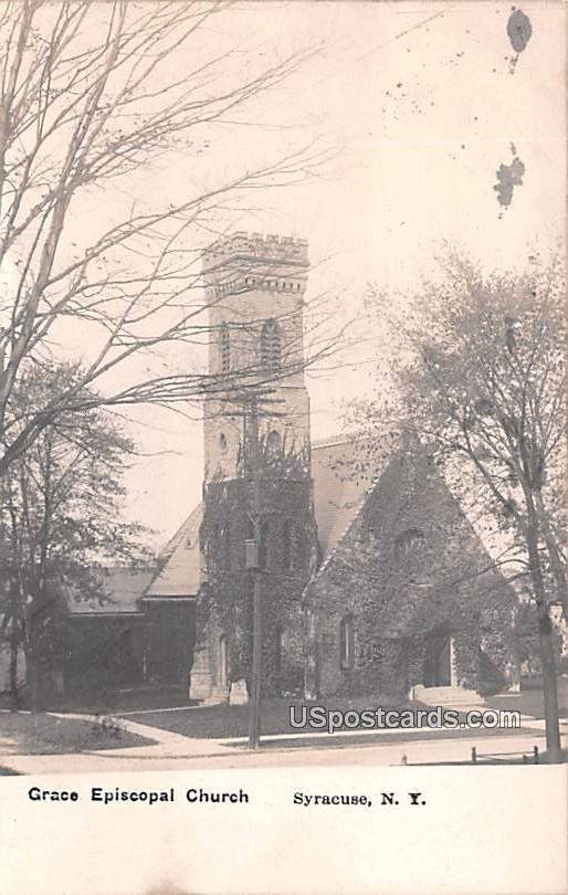 Grace Episcopal Church - Syracuse, New York NY Postcard