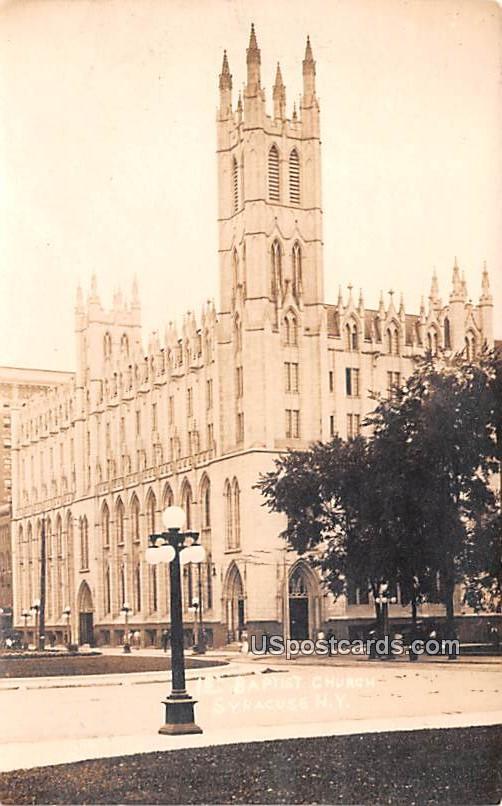 Baptist Church - Syracuse, New York NY Postcard