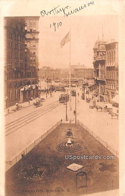 Veteran Park - Syracuse, New York NY Postcard