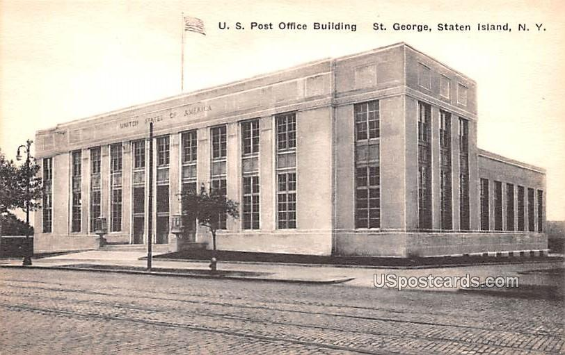 US Post Office Bulding - Staten Island, New York NY Postcard