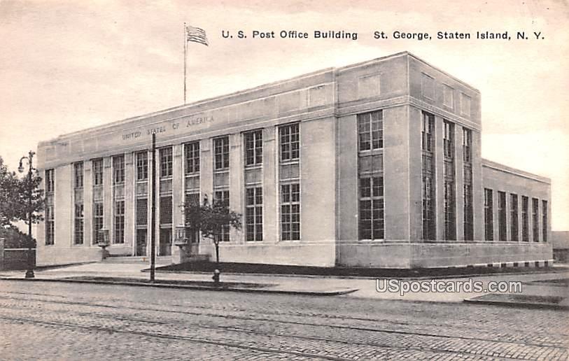 US Post Office Building - Staten Island, New York NY Postcard