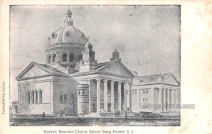 Randall Memorial Church - Staten Island, New York NY Postcard
