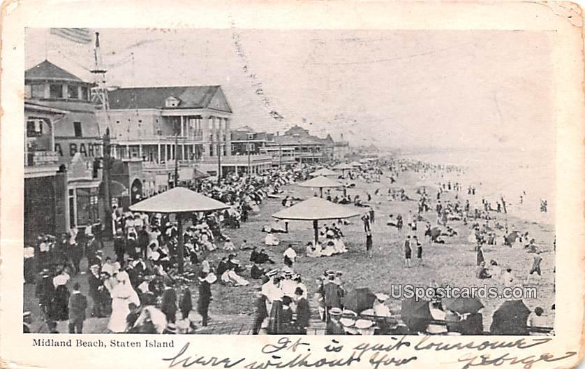 Midland Beach - Staten Island, New York NY Postcard