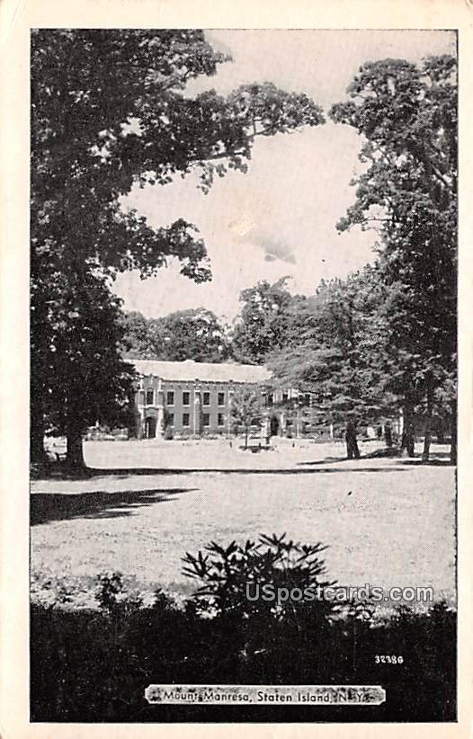 Mount Manresa - Staten Island, New York NY Postcard