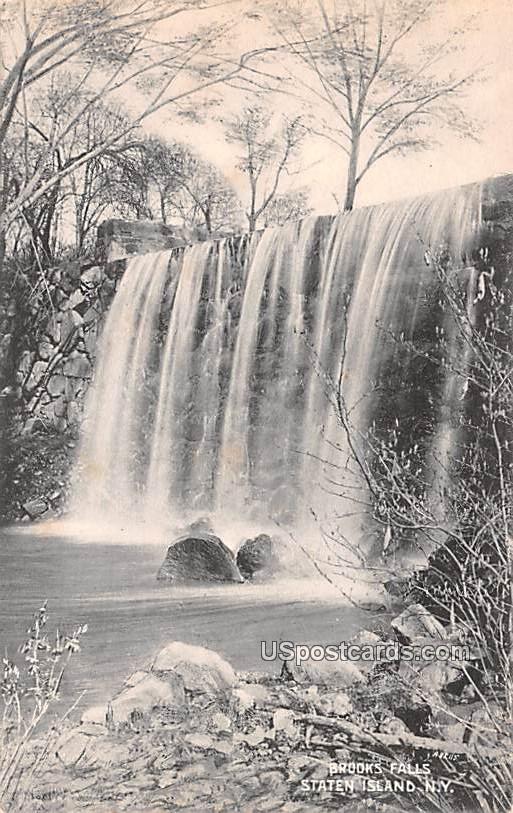 Brooks Falls - Staten Island, New York NY Postcard
