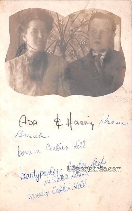 Ada & Harry Kroe - Staten Island, New York NY Postcard