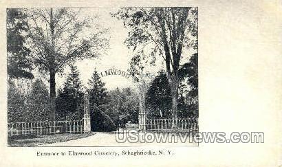 Elmwood Cemetery - Schaghticoke, New York NY Postcard