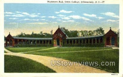Washburn Hall, Union College - Schenectady, New York NY Postcard