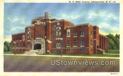 NY State Armory - Schenectady, New York NY Postcard