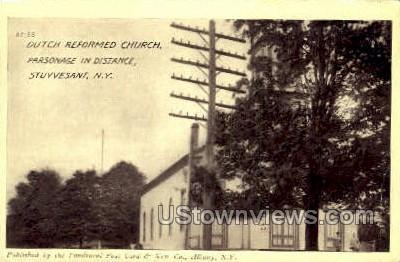 Dutch Reformed Church - Stuyvesant, New York NY Postcard