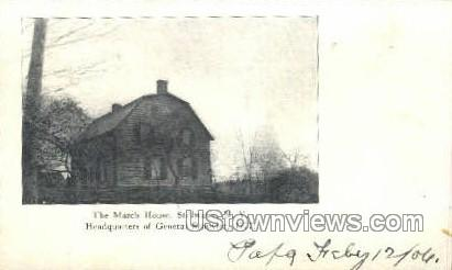 The March House - Stillwater, New York NY Postcard
