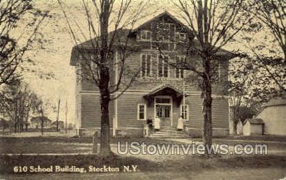 610 School Bldg - Stockton, New York NY Postcard