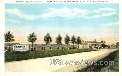 Kendall Tourist Camp - Silver Creek, New York NY Postcard