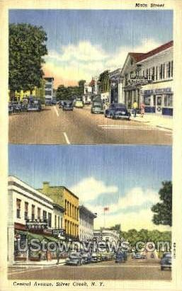 Central Ave. - Silver Creek, New York NY Postcard