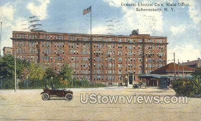 General Electric Co's Main Office - Schenectady, New York NY Postcard