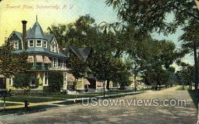 Seward Place - Schenectady, New York NY Postcard