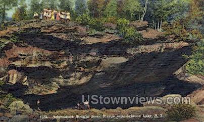Adirondack Natural Stone Bridge - Schroon Lake, New York NY Postcard