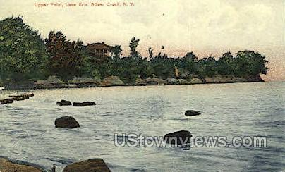Upper Point, Lake Erie - Silver Creek, New York NY Postcard