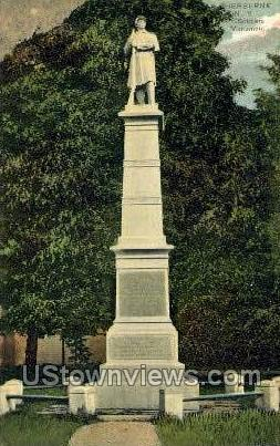 Soldiers Monument - Sherburne, New York NY Postcard