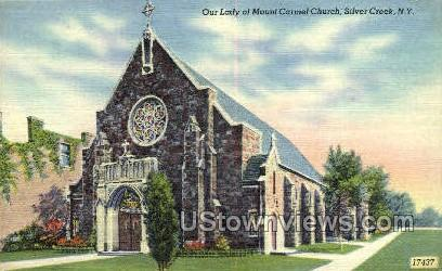 Our Lady of Mount Carmel Church - Silver Creek, New York NY Postcard