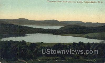 Thurman Pond - Schroon Lake, New York NY Postcard