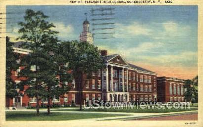 Mt. Pleasant High School - Schenectady, New York NY Postcard
