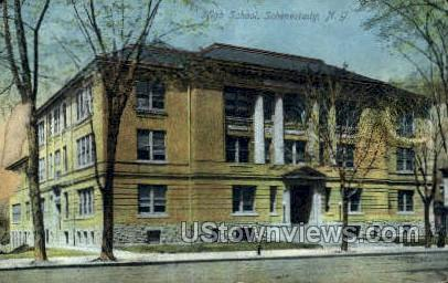 High School - Schenectady, New York NY Postcard