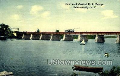 NY Central R.R. Bridge - Schenectady, New York NY Postcard